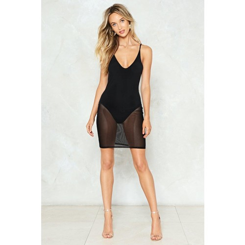 I Can See Clearly Now Mesh Dress