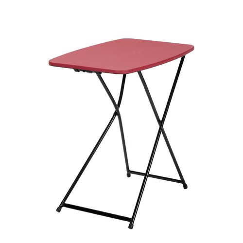 Cosco Home and Office Products 18 x 26u0026#8221; Red Adjustable Height Personal Folding Tailgate Table, 2 Pack