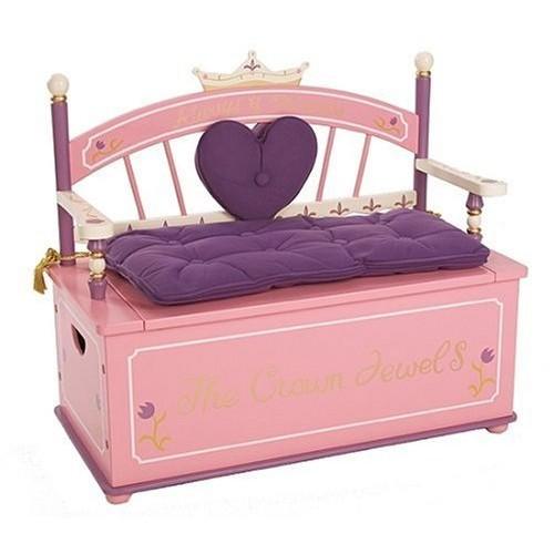 Wildkin Princess Toy Box Bench [Princess]