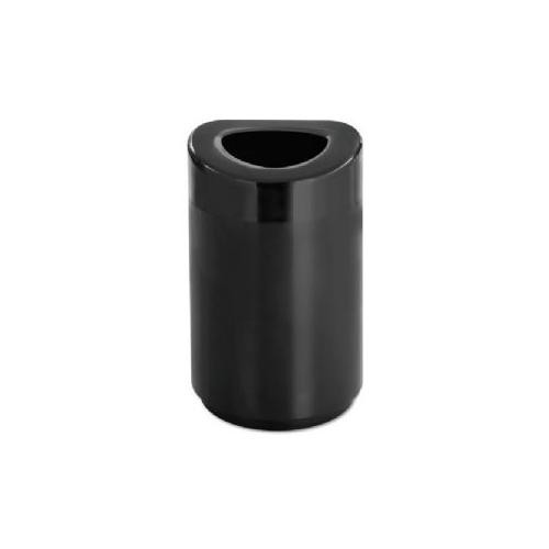 Safco Products 9920BL Open Top Waste Receptacle, 30-Gallon, Black