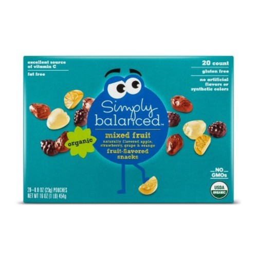 Mixed Fruit Flavored Snacks - 20ct - Simply Balanced