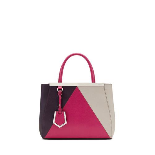 FENDI 2Jours Petite Satchel Bag, Magenta