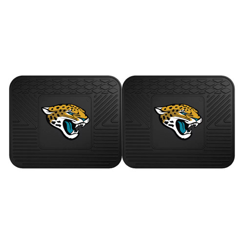 FANMATS Jacksonville Jaguars 2-Pack Utility Backseat Car Mats
