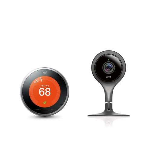 Nest Learning Thermostat and Indoor Security Camera
