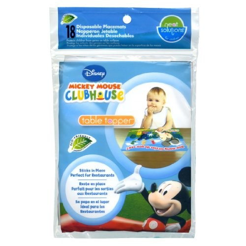 Neat Solutions Table Topper, Disney Mickey Mouse, 18-Count [Mickey Mouse - 18 Count]