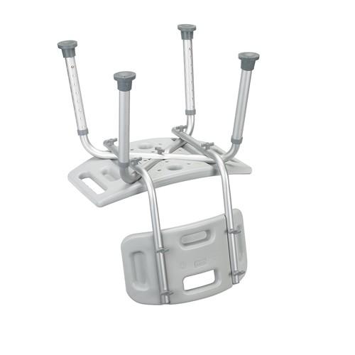 Bathroom Safety Shower Tub Bench Chair with Back, Grey [Grey]