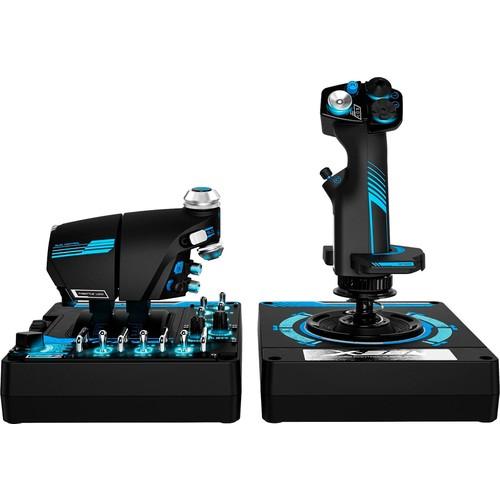 Saitek - Pro Flight X-56 Rhino H.O.T.A.S. System Gaming Controller for PC - Blue/black