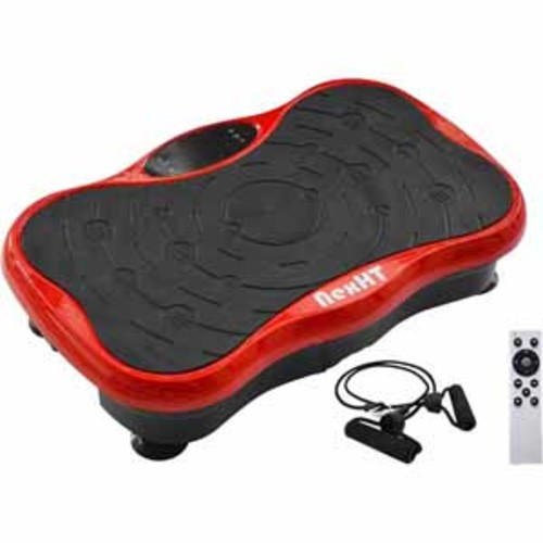 NexHT Mini Fitness Vibration Platform Whole Body Shape Exercise Machine with Two Bands & Remote - Red