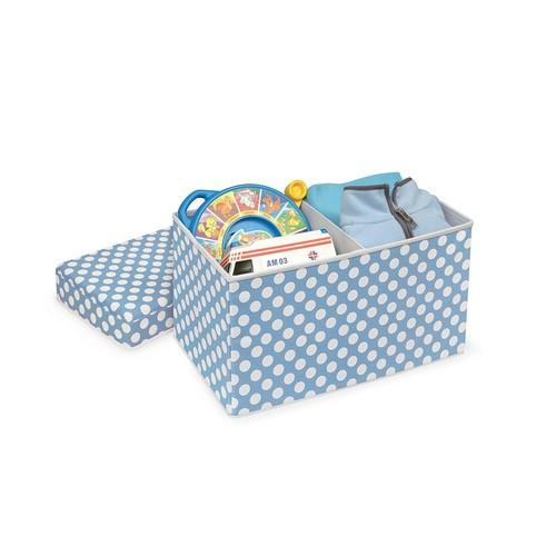 Badger Basket Company Double Folding Storage Seat, Blue [Blue, 1]