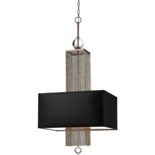 AF Lighting Casby Three Light Pendant, Black Shade (84463H)
