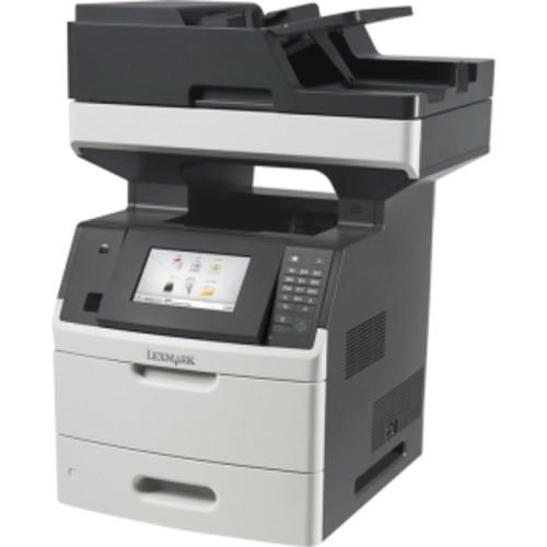 Lexmark MX710DE Laser Multifunction Printer - Monochrome - Plain Paper Print - Desktop - Copier/Fax/Printer/Scanner - 60 ppm Mono Print - 1200 x 1200 dpi Print - 60 cpm Mono Copy - 7