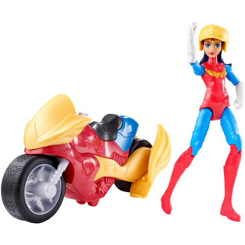 DC Comics Super Hero Girls Action Figure - Wonder Woman with Motorcycle