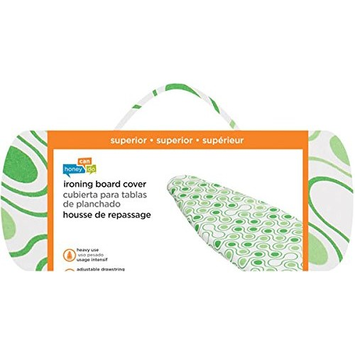 Honey-Can-Do IBC-01288 Superior Ironing Board Cover with Pad Dots, Green [Green, Superior]