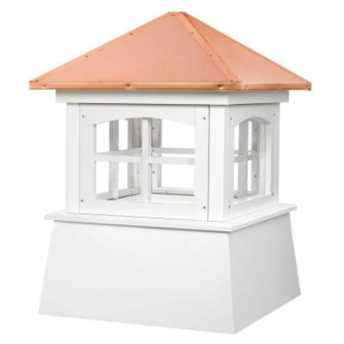 Good Directions Huntington 18 in. x 25 in. Vinyl Cupola with Copper Roof