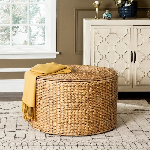 Safavieh Jesse Wicker Storage Natural Coffee Table