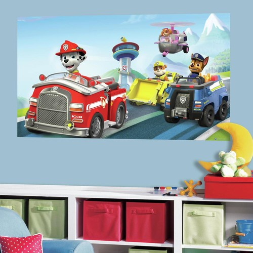 RoomMates 60 in. W x 36 in. H Paw Patrol 2- Piece Peel and Stick Wall Decal Mural