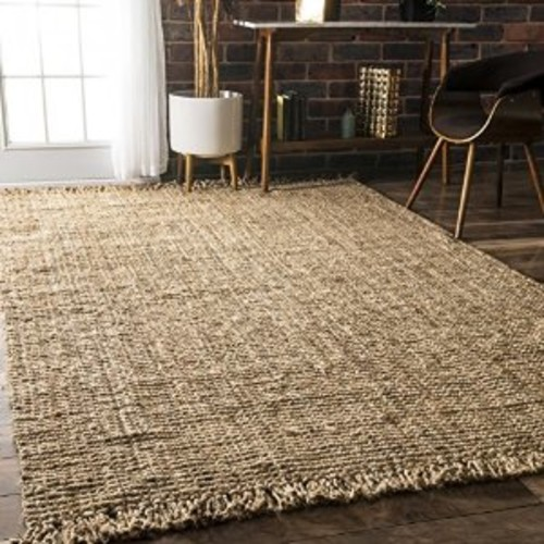 nuLOOM Natural Hand Woven Chunky Loop Jute Area Rug, 3' x 5' [Natural, 3' x 5']