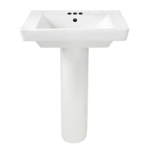 American Standard Boulevard Floor Mounted Pedestal Combo Bathroom Sink in White