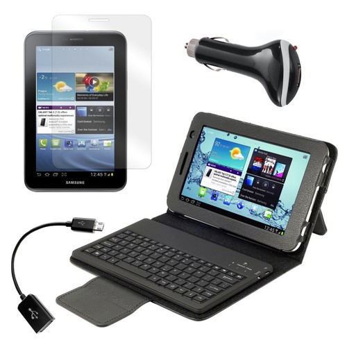 Mgear Accessories Bluetooth Keyboard Folio with OTG Cable and More for Samsung Galaxy Tab 2, 7