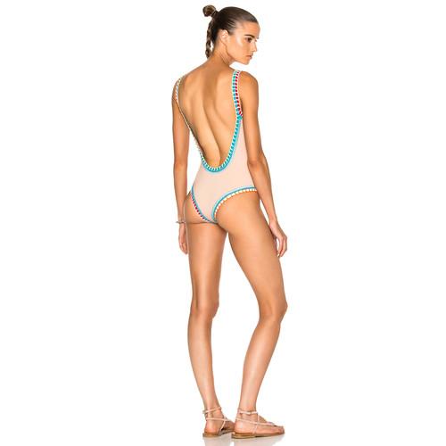 KIINI Luna Scoop Back Swimsuit in Nude Multi