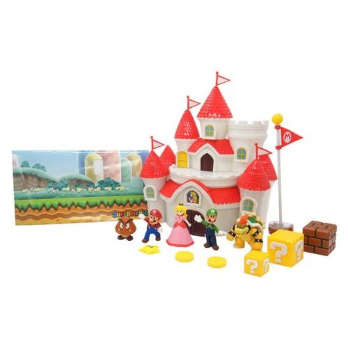 World of Nintendo Super Mario Deluxe Mushroom Kingdom Castle Playset