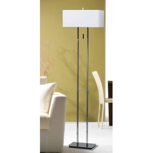 Kenroy Home Emilio Floor Lamp, Chrome