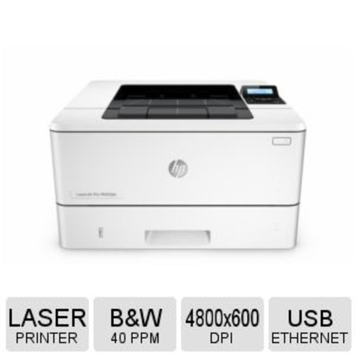 HP LaserJet Pro M402dn Printer  Laser, Monochrome, Duplex, 1200 MHz Processor Speed, Up to 4800 x 600 dpi, Up to 40 ppm, USB 2.0, Gigabit Ethernet, Recertified - C5F94A#BGJ