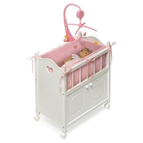 Badger Basket Doll Crib in White