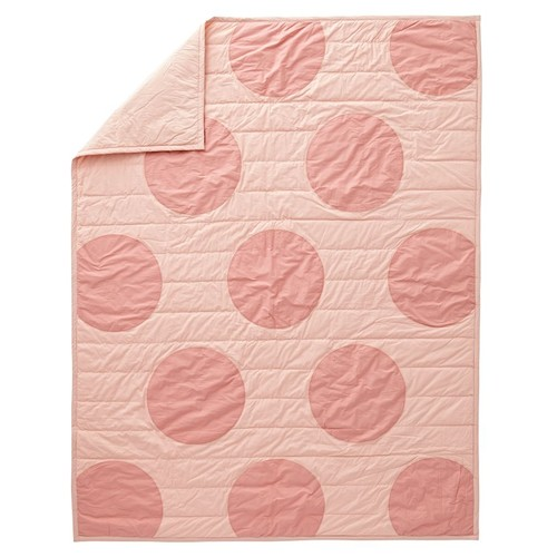 Pink Polka Dot Twin Quilt