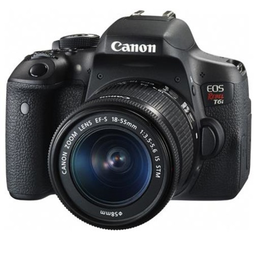Canon EOS Rebel T6i DSLR Camera w/18-55mm F3.5-5.6 IS STM Lens W/Promo Bundle 0591C003 Z