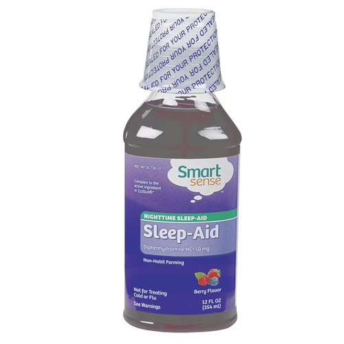 Smart Sense Nighttime Sleep Aid Liquid 12 fl oz