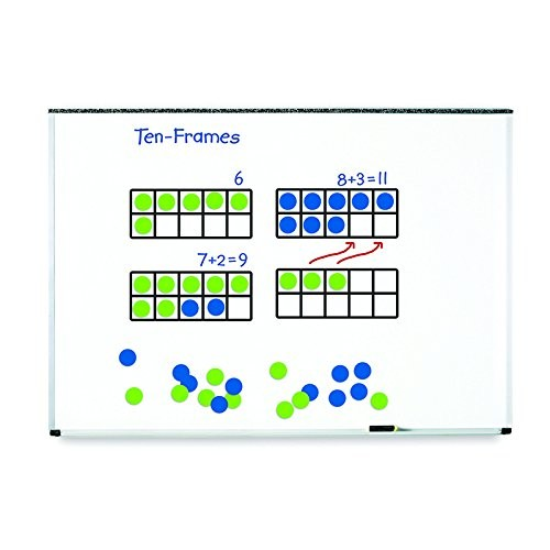 LEARNING RESOURCES GIANT MAGNETIC TEN FRAME SET 4 (Set of 6)