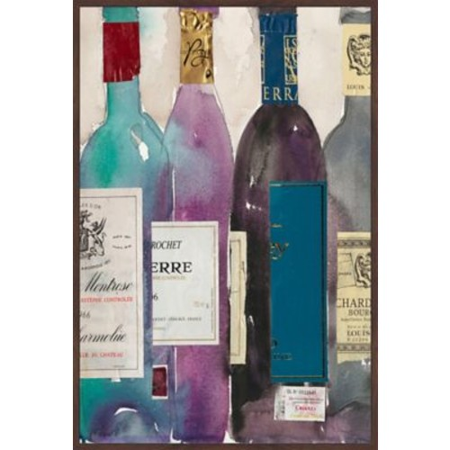 Marmont Hill 'Dinner Party II' Floater Framed Painting Print on Canvas; 60'' H x 40'' W x 1.5'' D