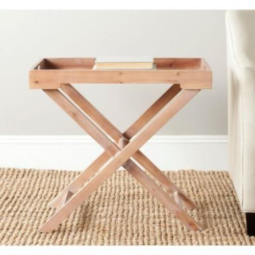 Safavieh Leo Red Maple Tray Side Table