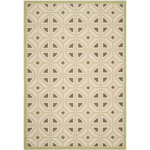 Safavieh Courtyard Beige/Sweet Pea 7 ft. x 10 ft. Indoor/Outdoor Area Rug