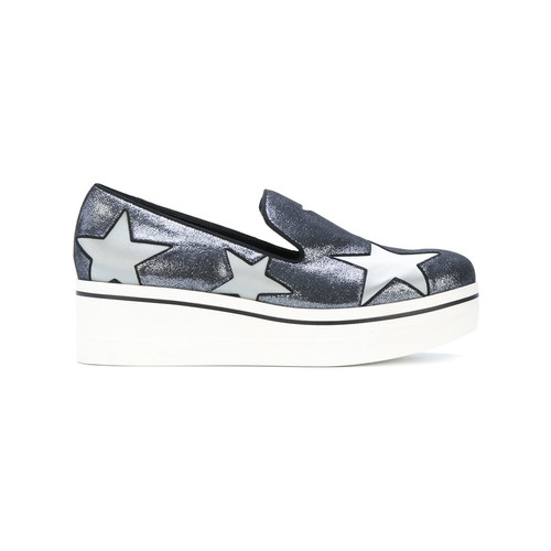 metallic Star Binx loafers
