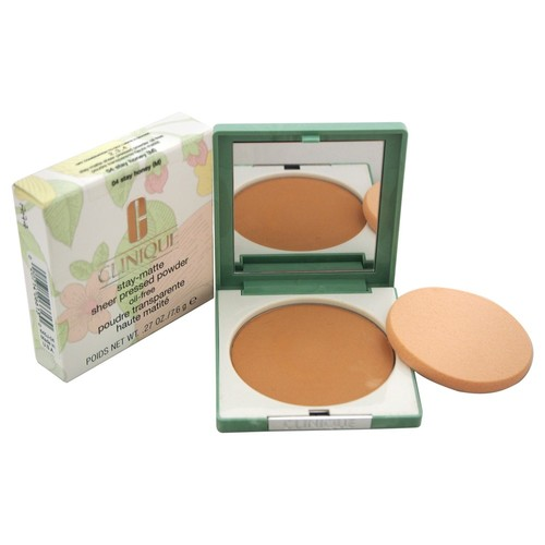 Stay-Matte Sheer Pressed Powder - # 04 Stay Honey (M) - Dry Combination To Oily by Clinique for Women - 0.27 oz Powder