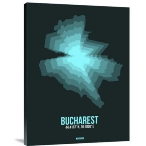 Naxart 'Bucharest Radiant Map 3' Graphic Art Print on Canvas; 16'' H x 12'' W x 1.5'' D