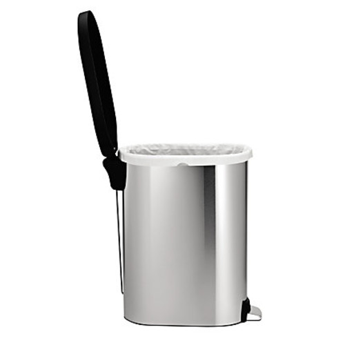 simplehuman Brushed Stainless Steel Step Trash Can, Slim, 12 Gallons