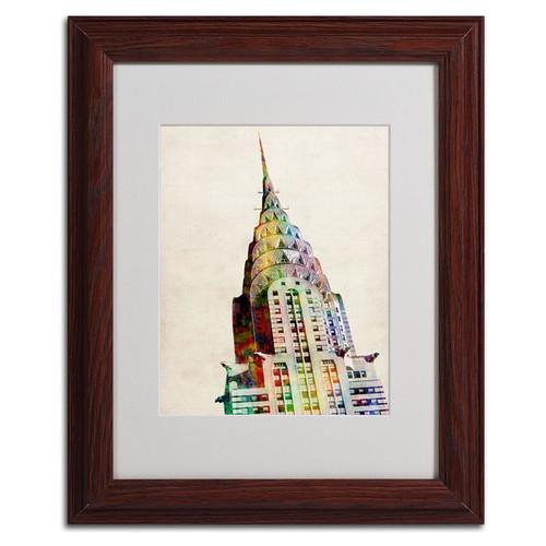 Michael Tompsett 'Chrysler Building' Framed Mattted Art [option : Medium 'Chrysler Building' 11 x 14]