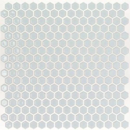 Splashback Tile Bliss Edged Hexagon Polished Modern Gray Ceramic Mosaic Floor and Wall Tile - 3 in. x 6 in. Tile Sample