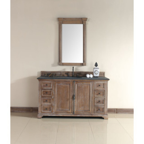 Wyndham Collection Amare Dove Grey Acrylic Resin Top Integrated Sink 60-inch Single Vanity with 58-inch Mirror