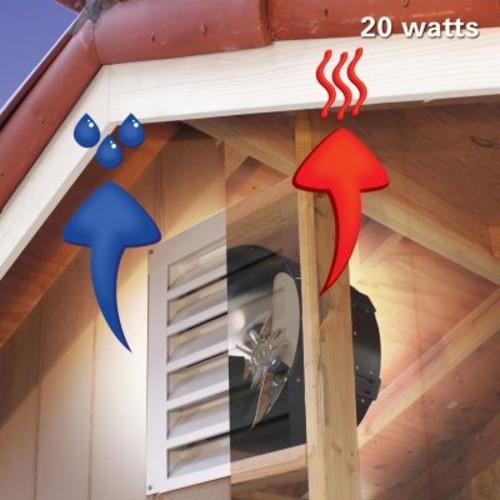 U.S. Sunlight 20-Watt Solar Gable Fan All-Purpose Ventilator by Air Vent, Inc.