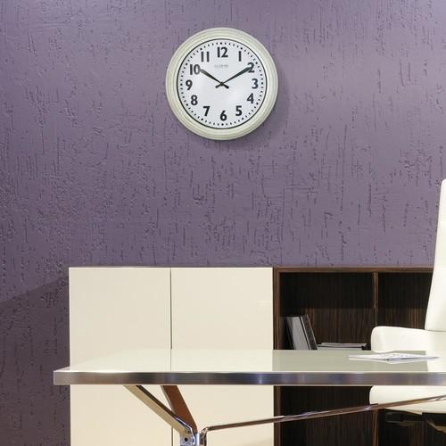 La Crosse Technology 12 in. Round Antique White Quartz Wall Clock