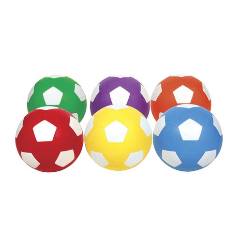 School Smart No 5 Soccer Balls, Set of 6