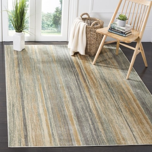 Safavieh Vintage Light Blue Abstract Distressed Silky Viscose Rug (8' x 11'2)