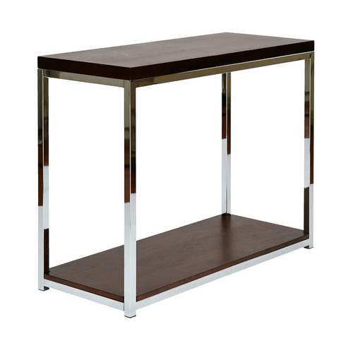 Wall Street Foyer Table in Espresso and White by Ave Six