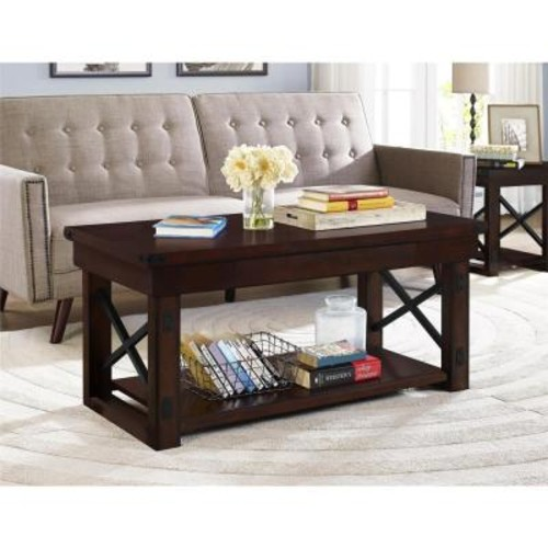 Altra Furniture Wildwood Mahogany Storage Coffee Table