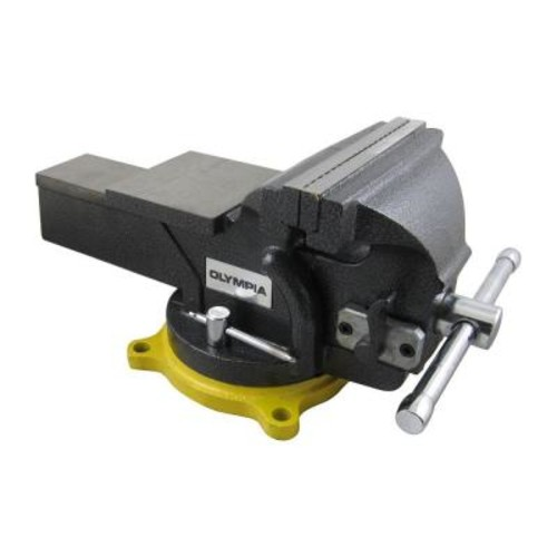 OLYMPIA 6 in. Single-Handed Operation Bench Vise