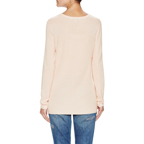 Cashmere Crewneck Mixed Stitch Sweater by Barrow & Grove